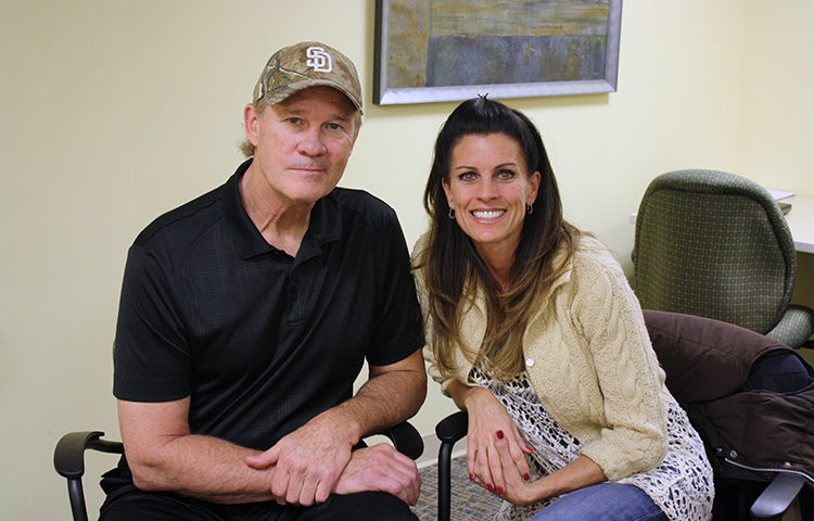Joe and Amy Senser at Ascend Rehabiliation